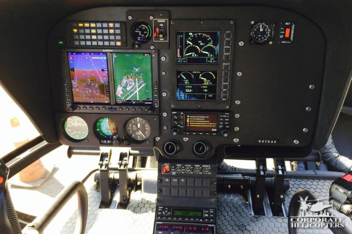 EC130 T2 helicopter instrument panel
