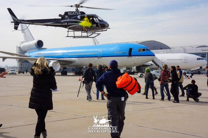 Aerial filming and production services from Corporate Helicopters of San Diego