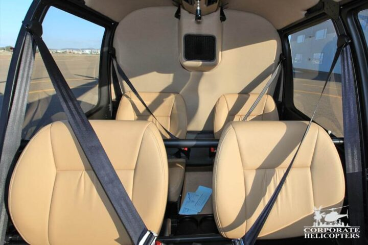 seats of a charter helicopter