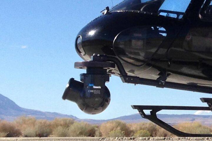 Cineflex ElitePiu mounted on a helicopter
