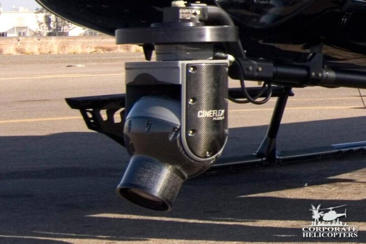 Cineflex camera system mounted on a helicopter