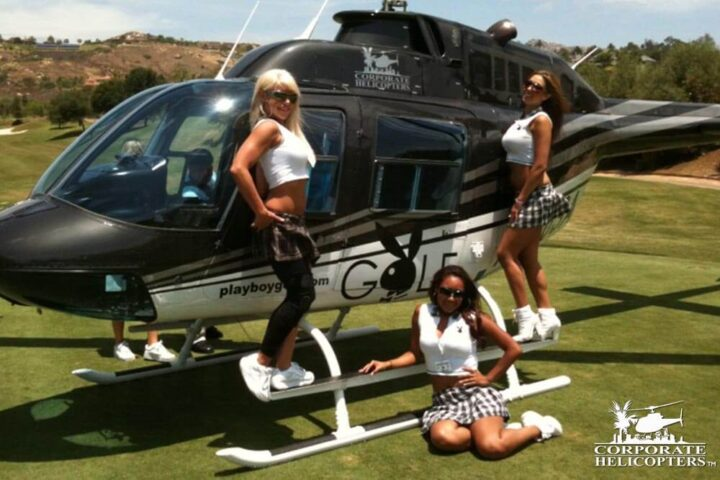 Playboy Golf helicopter