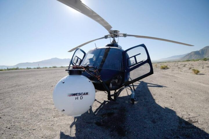 Wescam HD nose mount for helicopter aerial filming