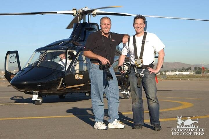 Aerial photographers at Corporate Helicpoters of San Diego