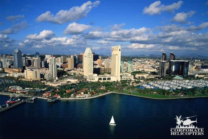 Aerial photo of downtown San Diego