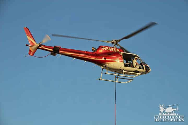 Helicopter external load long line