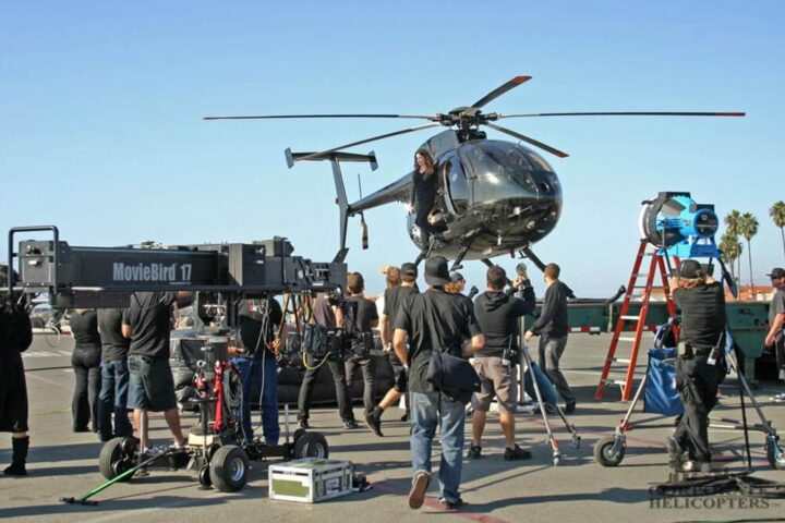 Helicopter filming