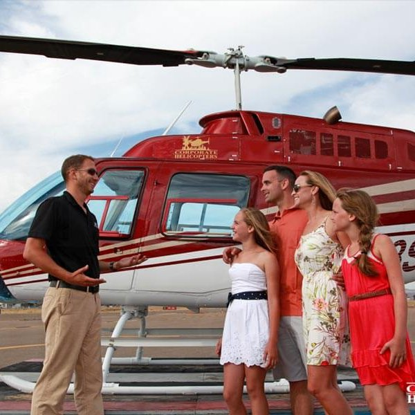 Mother's Day helicopter ride