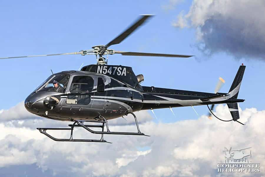 Corporate Helicopters of San Diego has multiple Eurocopter Astar 350s in the helicopter fleet