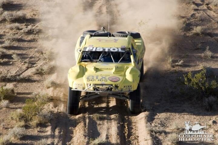 Mexico off road racing aerial helicopter