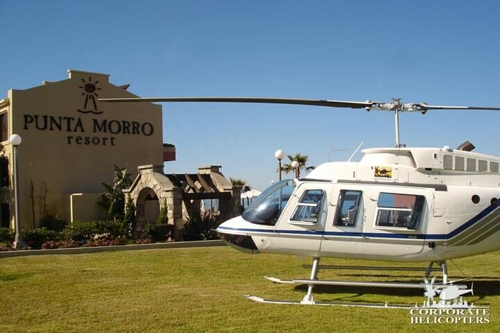 Helicopter tour of Baja Mexico.