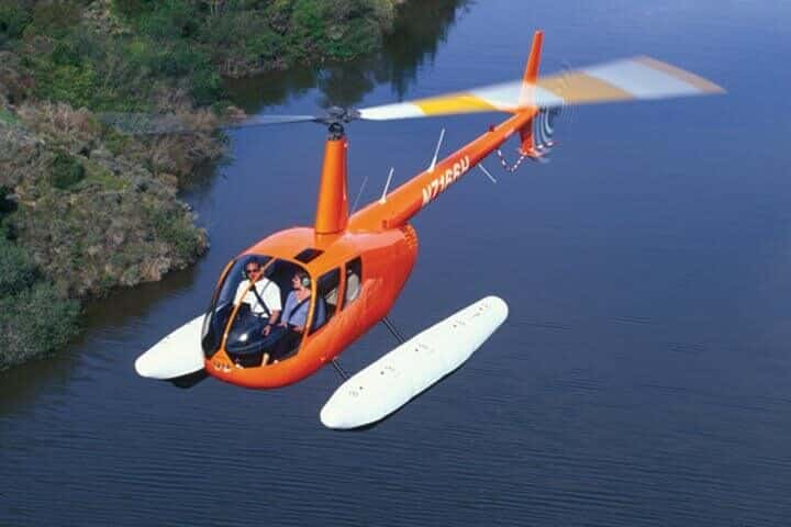 Robinson R44 Clipper with utility floats