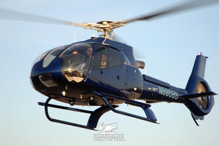 EC130 helicopter in flight