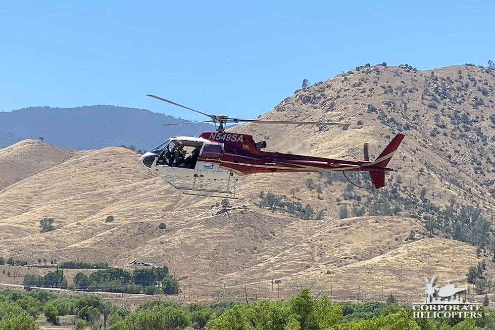 Helicopter utility work in Kern County