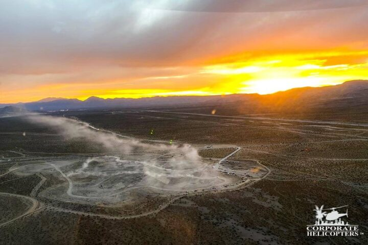 The sun sets on the 2020 Mint 400 off-road race.