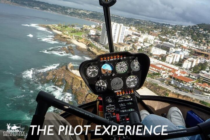The Pilot Experience Tour from Corporate Helicopters of San Diego gives you a 45-minute flight, plus you actually get to try flying the helicopter!