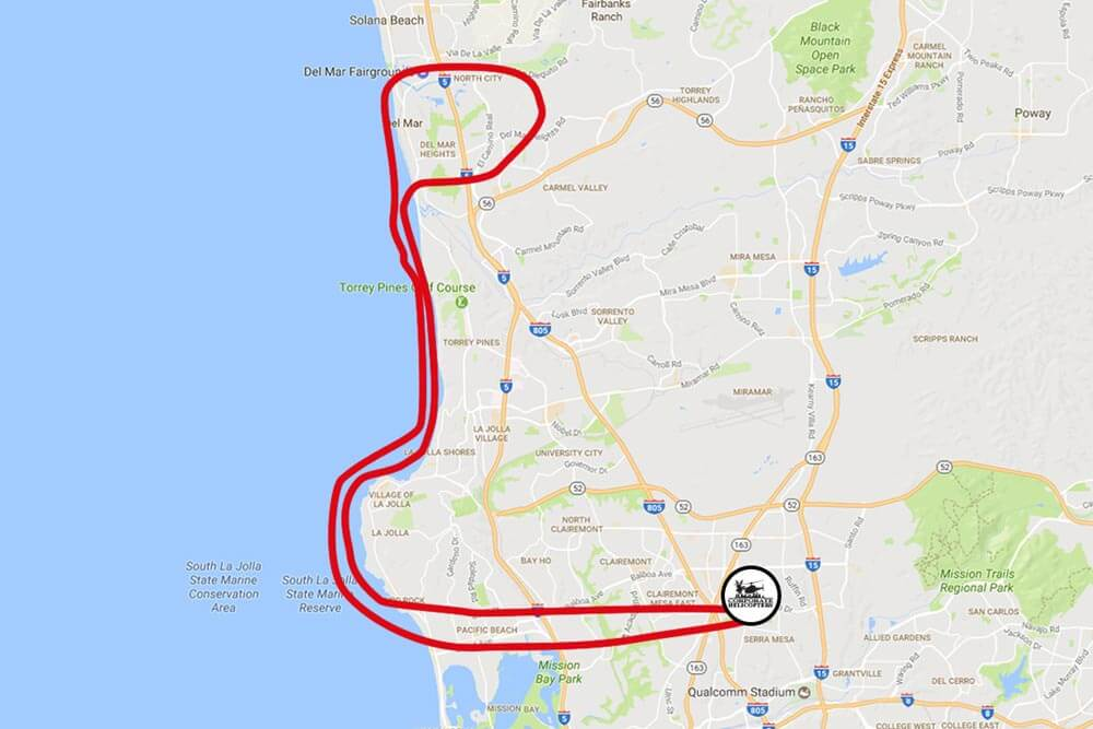 The Pilot Experience tour flight path