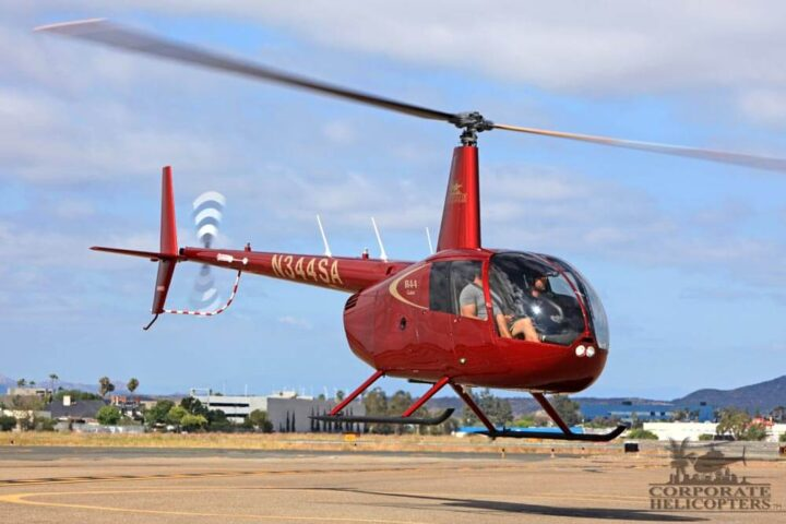 Robinson R44 Cadet training at Corporate Helicopters of San Diego