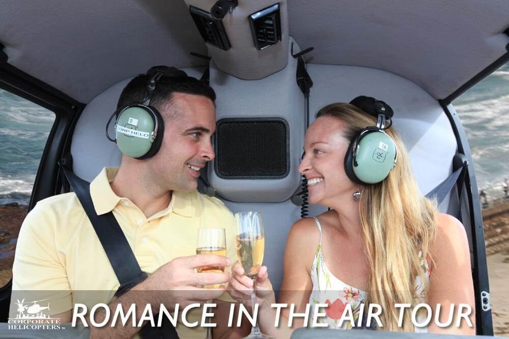 Romance in the air helicopter tour of San Diego