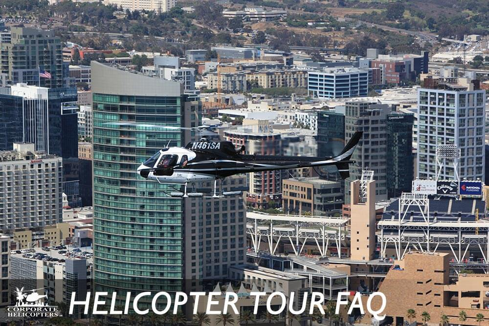 Commonly asked questions and answers about helicopter tours of San Diego. From Corporate Helicopters of San Diego.