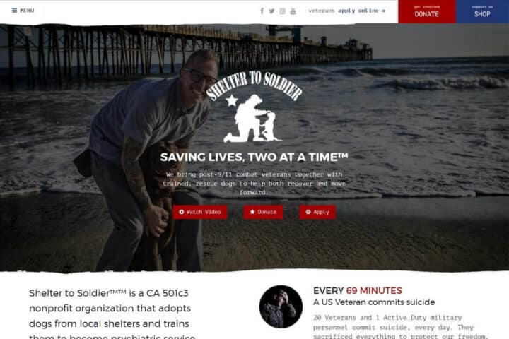 Shelter-To-Soldier web site
