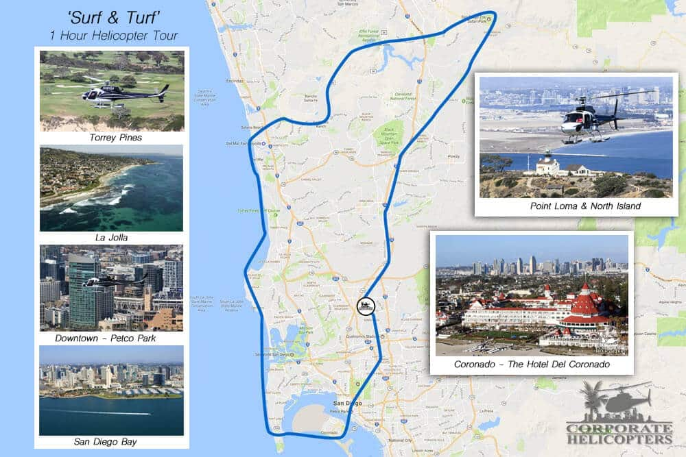 Surf & Turf Helicopter Tour - Corporate Helicopters